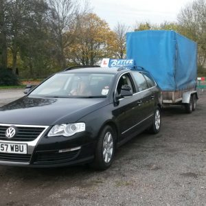 Towing caravans, boats, horse boxes, wood chippers legally